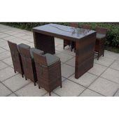 6-Sitzer Gartenset Lowry mit Polsterung Garden Living Farbe (Rahmen): Braun …   – Products