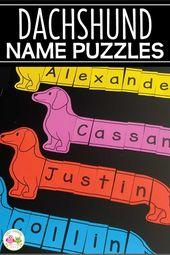 Druckbare Namensrätsel für Ihr Haustier-Thema – Name Activities