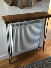 Console Table with Hairpin Legs. Rustic, Bespoke, Reclaimed timber – #Bespoke #C…