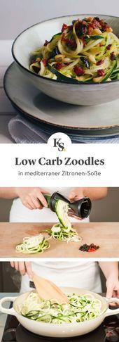 Espaguete de abobrinha mediterrânea em molho de limão   – Gesunde Rezepte – lecker abnehmen!