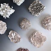 GEMACHT, um Porzellan Wandfliese Dahlia handgemacht zu machen | Etsy   – Knutselen