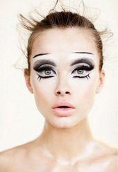 #Black # for #Carnival #paint #Swan Black swan makeup for carnival