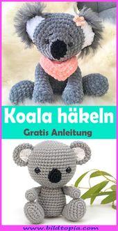 Koala häkeln – kostenlose Anleitung auf Deutsch
