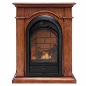 Duluth Forge Vent-Free Freestanding Corner 37″H x 28″W Natural Gas/Propane Fireplace