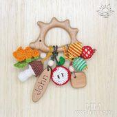 Igel Beißring Baby Holzspielzeug Igel Rassel Bio | Etsy