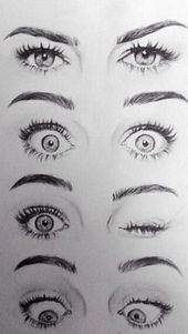Art Drawings Tumblr – Klicken, um das Bild zu sehen. Dessin – Ausdrücke yeux – #dessin #expressions