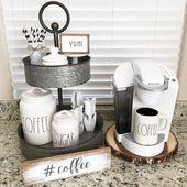 18 charmante DIY Coffee Station Ideen für alle Kaffeeliebhaber