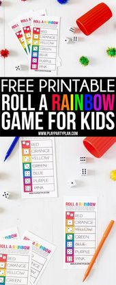 This roll a rainbow game is one of the best St. Patrick's Day games for kids! …