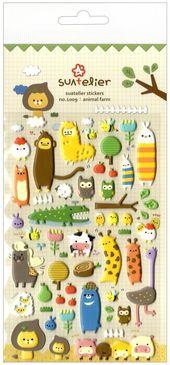 Animal Farm Sponge Stickers by Suatelier