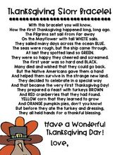 Thanksgiving-Story-Aktivität [Bracelet Craft] – Teaching GA Littles