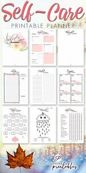 Self-Care Printable Planner + Urlaubsplaner – Adulting