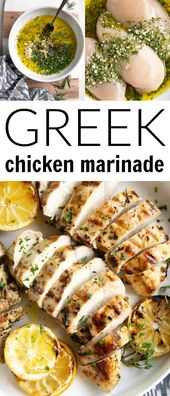 Made with lemon, garlic, and fresh herbs, this chicken marinade takes just minutes to whip together and calls for only a handful of fresh and healthy ingredients.
