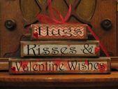 Valentines Day Decor, Valentine Blocks, Valentine Day Sign, Valentines Day Gift,…