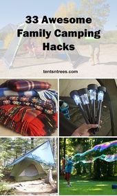 33 awesome family camping hacks that will make your next camping trip amazing. #…  – camping