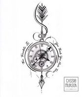 Pocket Watch Tattoo Commission von cassiemunson-art - #cassiemunsonart #Commission #Pocket #Tattoo #wallet