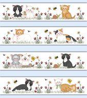 Details about Cat Wallpaper Border Decals Girl Farm Nursery Kitten Wall Art Stickers Kids Room – Kinderzimmer