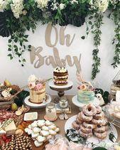 40+ schöne süße Babyparty Ideen für Mädchen 6 – # Babyparty # Ideen #madchen …   – Dekoration-Babyparty