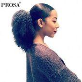 4B 4C Afro Verworrene Lockige Pferdeschwanz-Verlängerungen Mongolischer Clip In Menschenhaar Pferdeschwanz Natürliche Farbe Prosa Hair Products Remy - 2. November 2019 um 04: 37P ...