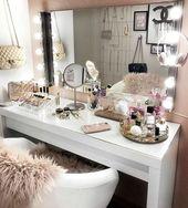 20 besten Make-up Eitelkeiten & Cases für stilvolle Schlafzimmer – # Schlafzimmer #Cases #Makeup #S …   – room Inspiration ♡
