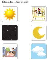 Le Jour Et La Nuit Activites Pour Enfants Educatout Nursery Activities Activities For Kids Activities