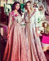 أسماء المنور شميشة وشدى حسون يرقصن في زفاف هدى سعيد فيديو Caftan Dress Caftan Moroccan Dress