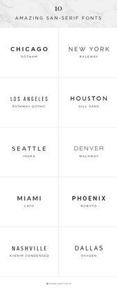 10 Amazing Sans-Serif Fonts