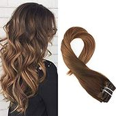 Mosoo 20inch 100 Remy Human Clip in Hair Extension…