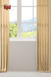 Tan Designer Shantung Faux Silk Curtains