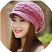 Hat women knitted winter skullies caps snapback warm wool – Products