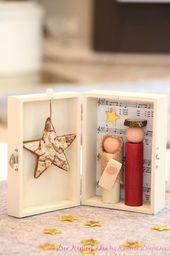 Weihnachts-Krippe in der Holz-Box von Der AtelierLaden by Annette Diepolder auf