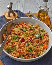 Rice pan with puty greens
