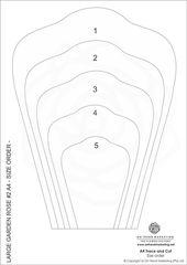 SALE – Giant Wavy Rose #36 DIY Template – Digital Obtain PDF – Print Hint Minimize – Rose flower template – printable template