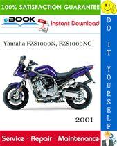 2001 Yamaha Fzs1000n Fzs1000nc Motorcycle Service Repair Manual Repair Manuals Yamaha Repair