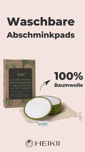 Waschbare Abschminkpads aus 100% Baumwolle – zum Abschminken und für die Gesichtsreinigung