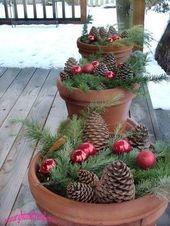 Wunderschöne Bastelideen für DIY-Weihnachtsdekoration mit Tannenzapfen!   – herbst/weihnachten