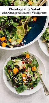 Thanksgiving Salad with Orange Cinnamon Vinaigrette – Fall Recipes