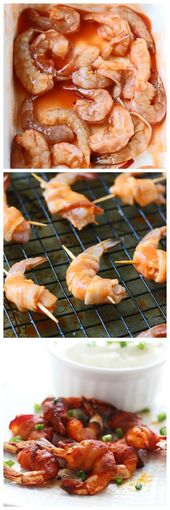 3 Ingredient Bacon Wrapped Buffalo Shrimp – Cooking for Keeps
