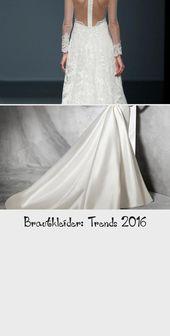 Vi tittade närmare på bröllopsklänningstrenderna 2016 och vill visa er …