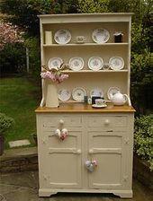 Vintage Shabby Chic Welsh Farmhouse Oak Dresser Laura Ashley And