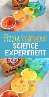 Rainbow baking soda science experiment for kids 2
