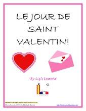 Le Jour De Saint Valentin French Valentine S Day Activities Acrostic Teaching French Bingo Card Template