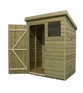 Empire 1500 Pent Garden Shed 6x3 Shiplap Pressure Treated T G Windows Ebay Wooden Sheds Shed Garden Shed