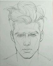 Gesichtszeichnung des Mannes – coole Zeichnung bemannt Gesichtsform. Besuchen Sie meinen YouTube-Kanal … – Healthy Skin Care