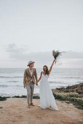 Barefoot Seaside Sunset Cliffs Wedding in San Diego | Junebug Weddings