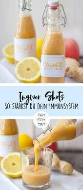 Ingwerschüsse – so stärken Sie Ihr Immunsystem   – ingwer