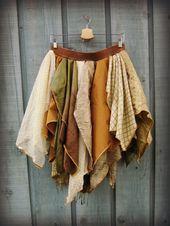 M-L Bohemian Gypsy Fairy Skirt// Eastern Influence// Woodland// emmevielle