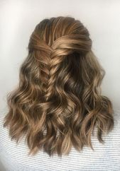Fishtail braided hairstyle for the weekend ✨ #promhairstyles