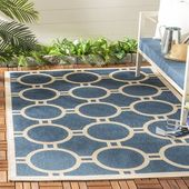 Wrought Studio Sherree Blue/Beige Area Rug