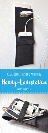KOSTENLOSE Nähanleitung + Anleitung: Handy-Ladestation aus Kork   – Nähen für Weihnachten