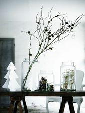 Puristische Tischdeko im Winter – 70 stilvolle Dekoideen, die jedem gelingen